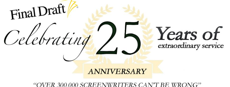 Screenwriting Software Company Final Draft Celebrates 25 Years